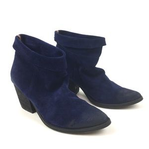 Jeffrey Campbell Ibiza suede leather ankle boot